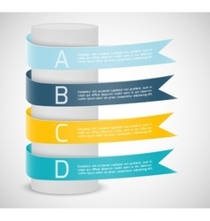 Set of ribbons Infographic design vector image vector image