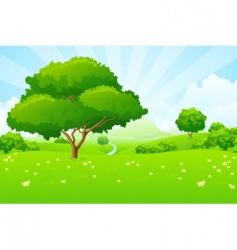 tree landscape vector image vector image