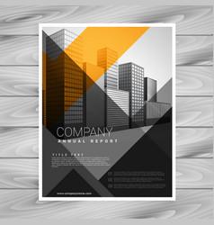abstract orange black company brochure design vector image vector image