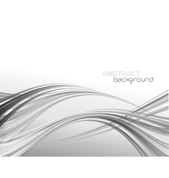 Abstract template background with curved wave vector image vector image