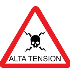 Alta tension vector image vector image