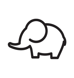 elephant simple line vector image vector image