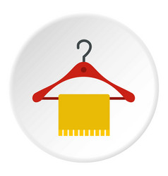 hanger and towel icon circle vector image