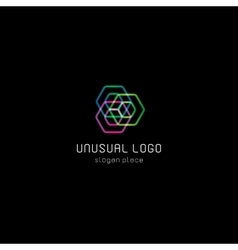 Isolated abstract polygons logo Geometry vector image vector image