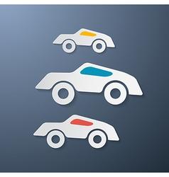 Paper Retro Cars vector image