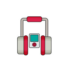 player with headphones flat vector image