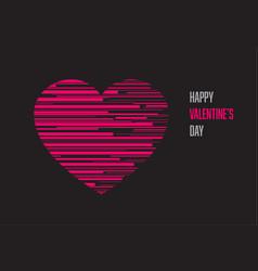 minimalistic valentines card vector image