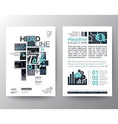Poster Brochure Flyer design Layout template vector image vector image