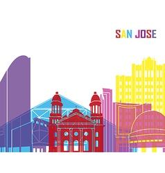 San Jose skyline pop vector image vector image