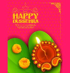 Sona patta for wishing happy dussehra vector