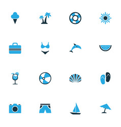 Sun colorful icons set collection of sun camera vector