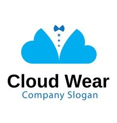 Cloud Wear Design vector image vector image