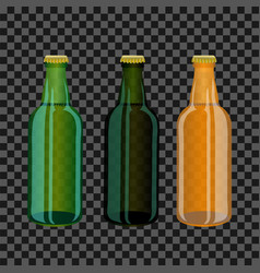 colored glass bottles vector image