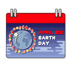 international earth day vector image vector image