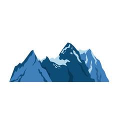 mountain rock nature landscape tourism vector image
