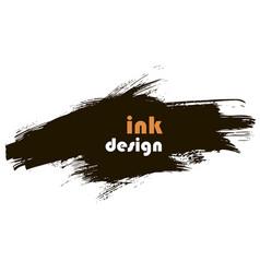 spot ink banner vector image vector image