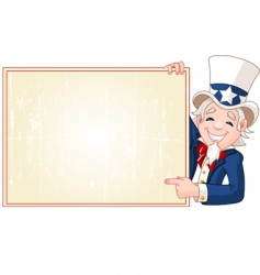 uncle Sam with sign vector image