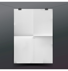 White paper texture or background vector image