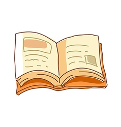 A book is opend vector