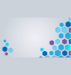 abstract cutting paper hexagons background vector image