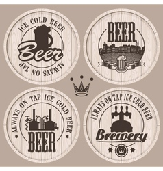 Barrel beer vector