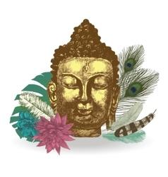 Buddha head Hand drawn vector