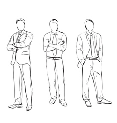 Business man sketch vector image