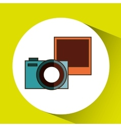 camera retro design vector image