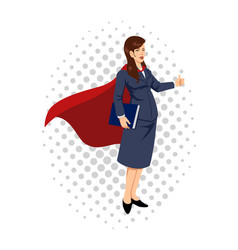 cartoon of a super businesswoman vector image