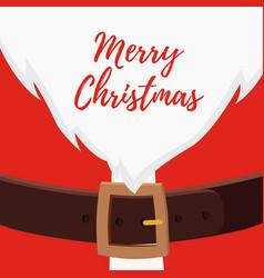 Cartoon santa claus belly christmas card vector