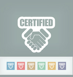 Certified concept icon vector