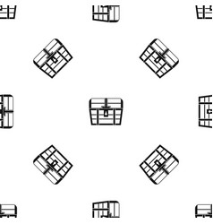 chest pattern seamless black vector image