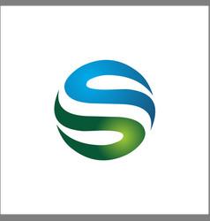 circle s initials logo abstract elements vector image