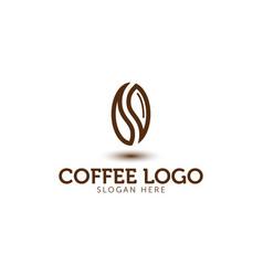 coffee logo icon template vector image