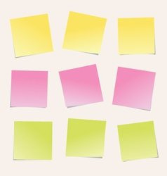 Colorful notes paper vector