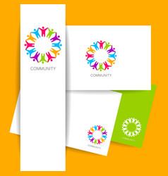 community logo design template vector image