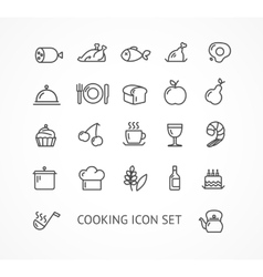 cooking outline icon set vector image