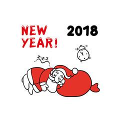 cute sketch of santa claus vector image