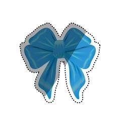 decorative ribbon bow vector image