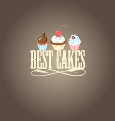 Delicious cakes and desserts vector