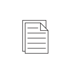 Document sharing line icon outline logo vector