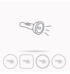 Flashlight icon Light beam sign vector