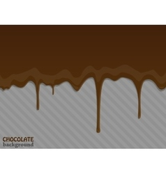 Flowing chocolate drops vector image