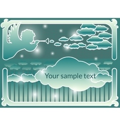 frame with an angel vector image