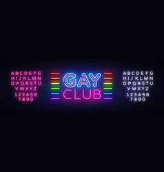 gay club neon sign gay club design vector image