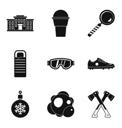 General secondary education icons set simple vector