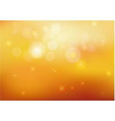 golden stardust bokeh and stars background vector image