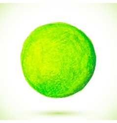 Green acrylic paint circle vector