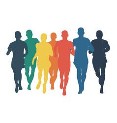 Group runners men run vector