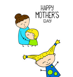 happy mother day postcard on white vector image